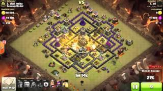 Clash of Clans Indonesia SARUNG BODOL (COC) - MAX HOG RIDER Attack TH9 3 STARS #179