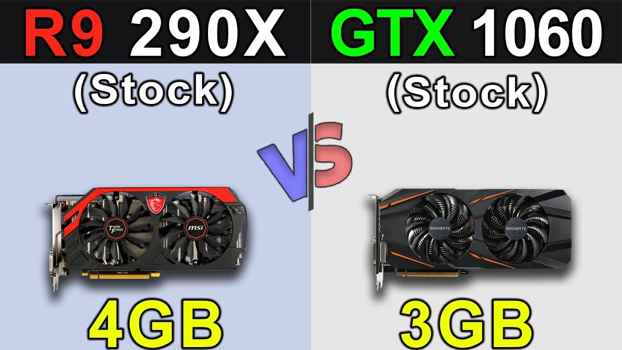 R9 290x Vs Gtx 1060 New Games Benchmarks Youtube