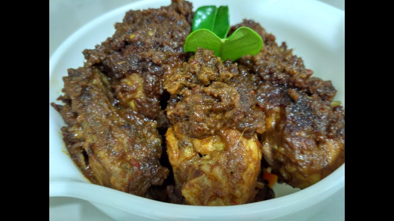 Resep Rendang Ayam : Resep rendang ayam suwir / 1/2 ekor ayam (dipotong), 1 kotak kecil santan