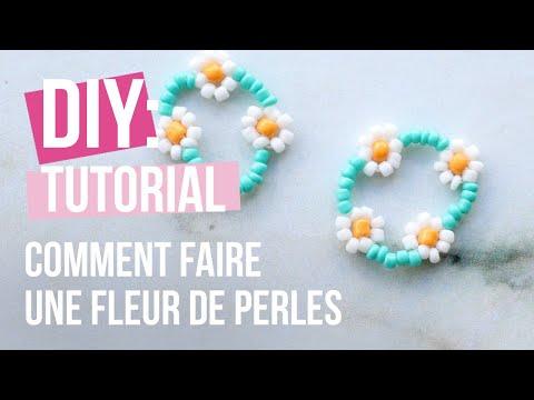 Bijoux à faire soi-même : Comment faire une fleur de perles ♡ DIY