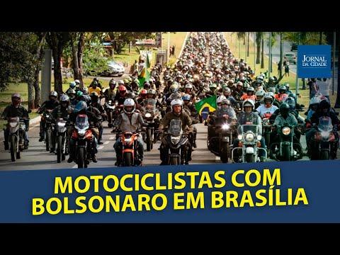 Motociclistas com  Bolsonaro em Brasília pelo Dia dos Pais - AO VIVO