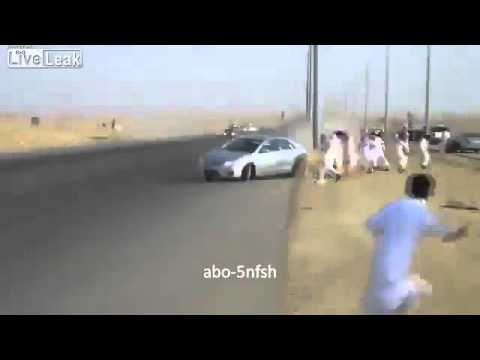 Saudi Drift Near Miss and Accident