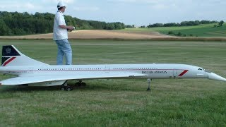 Huge Concords RC Quad-turbine model Jets with lowering nose (uniquely)