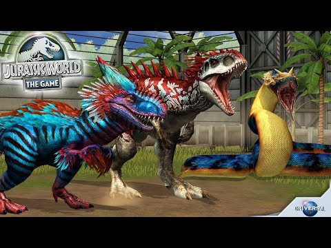 Top 10 Strongest Dino In Jurassic World The Game 2017 || Jurassic World The Game
