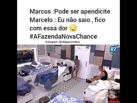 A fazenda 9: Marcelo   estava com fortes dores na barriga e pode ser: Apendicite