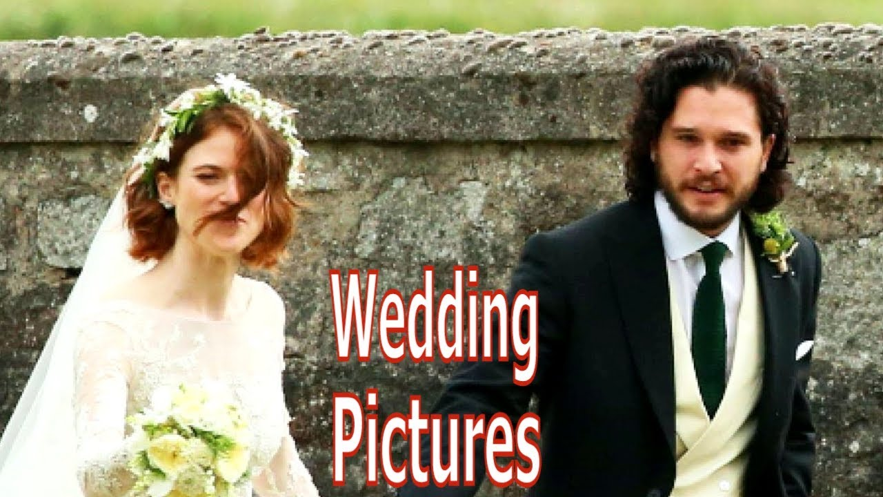 Kit Harrington And Rose Leslie Wedding Pictures Youtube