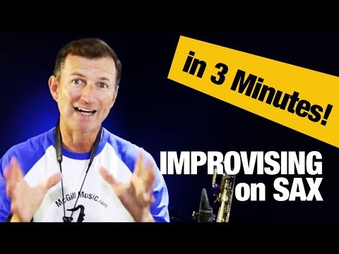 How to improvise on saxophone in 3 minutes