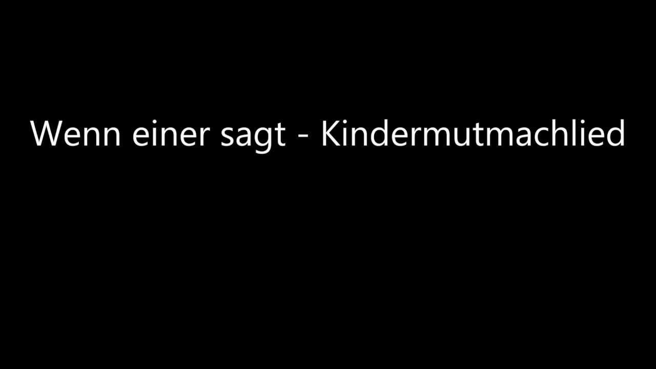 Mutmach lied kinder La