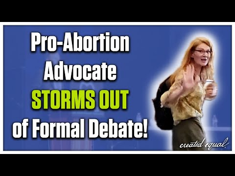 Pro-Abortion Advocate Storms Out of Formal Debate - Seth Drayer v. Erin Fogg