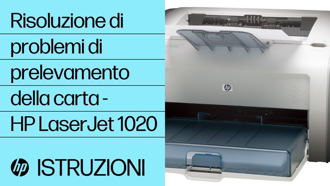 Risoluzione di problemi di prelevamento della carta hp laserjet