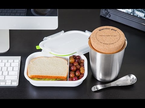 black blum modern lunch containers youtube. Black Bedroom Furniture Sets. Home Design Ideas