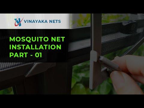 Fixing Mosquito Net In Door | Insect Screen | Vinayaka Mosquito Nets