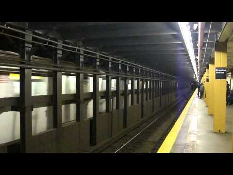 IRT Eastern Parkway Line: R142A 4 Train at Kingston Ave (Manhattan Bound)