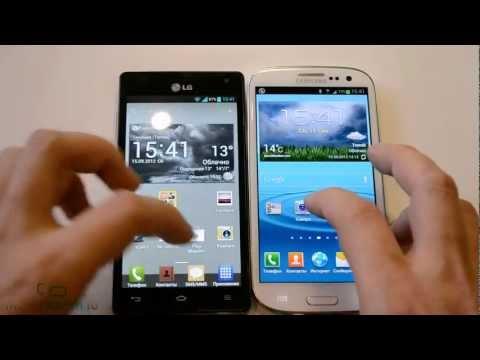 Samsung Galaxy S 3 vs LG Optimus 4X HD: скорость (speed comparison)