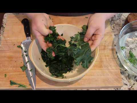 How to Clean, Destem and Massage Kale