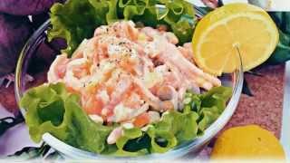 Самый вкусный царский салат с кальмарами и огурцами рецепт Thai Spicy Squid Salad - พล่าปลาหมึก [4K]