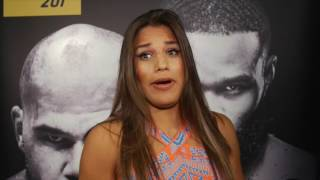 julianna pena and derrick lewis on that awkward drive to media day