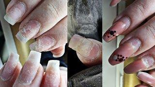 Убитые ногти моя работа клиентка у которой ничего ничего не держится
