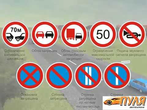 Тема Дорожные знаки. Запрещающие знаки часть 2.