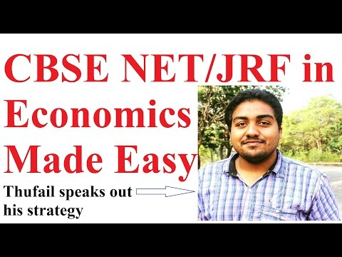 How to Prepare for NET Exam in Economics- Interview with Thufail- JRF Holder