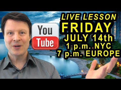 Learn English starts @ 6 minutes with Steve Ford Live | English for travel
