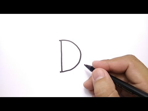 VERY EASY, How To Turn Letter D Into DONALD DUCK CARTOON For KIDS / Learn How To Draw