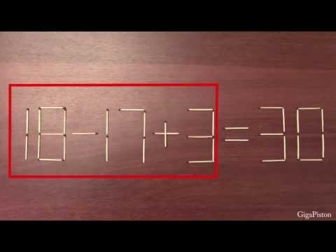 Головоломки математические со спичками. Часть-3.
