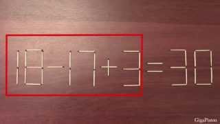 Головоломка со спичками +ответ