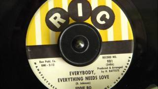 EDDIE BO - EVERYBODY, EVERYTHING NEEDS LOVE