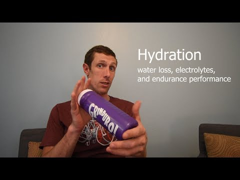 Hydration and Endurance Sports: water loss, electrolytes, and performance