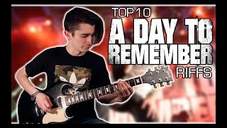 Top 10 A Day To Remember Riffs w/ Tabs