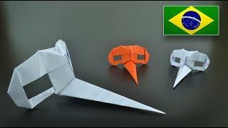 Origami: Máscara Dr. Parnassus (Riccardo Foschi) - Instruções em Português BR