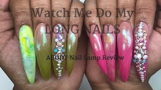 Download Watch Me Do My LONG Nails | ABODY Nail Lamp Review Mp3 and Videos
