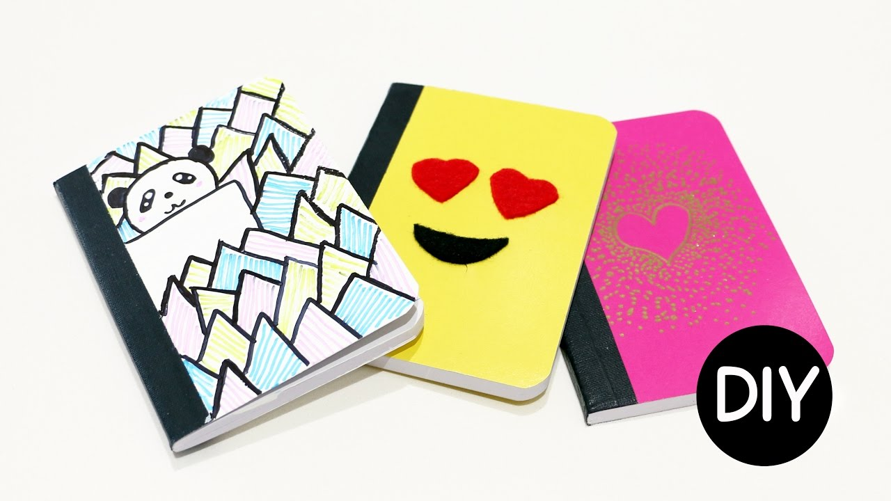 Notebook Cover Design Ideas Awesome Diy Mini Notebook Cover Ideas  Youtube Design Decoration