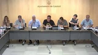 Ajuntament de Calafell: sessió plenària extraordinària, 20 de juliol de 2016