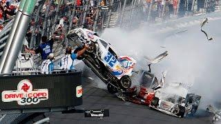Подборка аварий на гонках, самые жестокие и зрелищные автокатастрофы, машины в дребезги 18+ #2