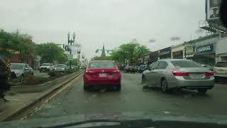 Driving through Mattapan Boston on our way to film set