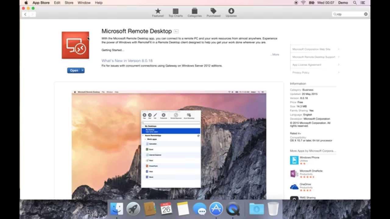 Mac OS - Download the Microsoft RDP app - YouTube Mac OS - Download the Microsoft RDP app
