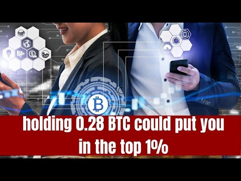 Could holding 0.28 BTC could put you in the top 1% wealth bracket someday?
