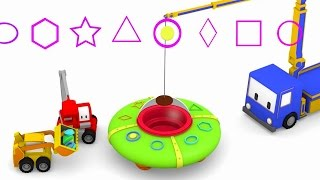 UFO !- ucz się kolorów z Małymi Samochodzikiami: buldożer, dźwig, koparka