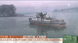 Elképesztő felvételek: így törik a jeget a Dunán - tv2.hu/mokka