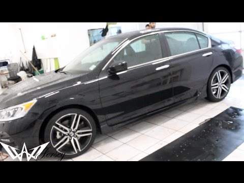 BLACK 2017 HONDA ACCORD SPORT EDITION TINTED BY WINNING ...