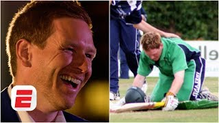 Eoin Morgan reacts to Eoin Morgan getting out for 99 on ODI debut | Through the years part 1