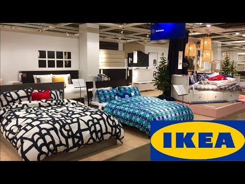 IKEA BEDS BEDROOM FURNITURE DRESSERS HOME DECOR - SHOP WITH ME SHOPPING STORE WALK THROUGH 4K