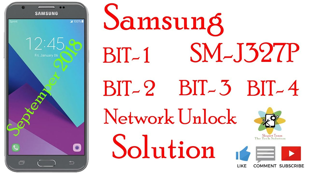 Samsung SM-J327P U1-U2-U3-U4 Network Unlock Solution