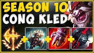 SEASON 10 CONQUEROR + KLED PASSIVE = 100% UNFAIR CHAMPION! KLED SEASON 10 GAMEPLAY League of Legends