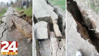 Zemlja se otvorila! Zastrašujući prizori iz epicentra potresa! | News #Shorts