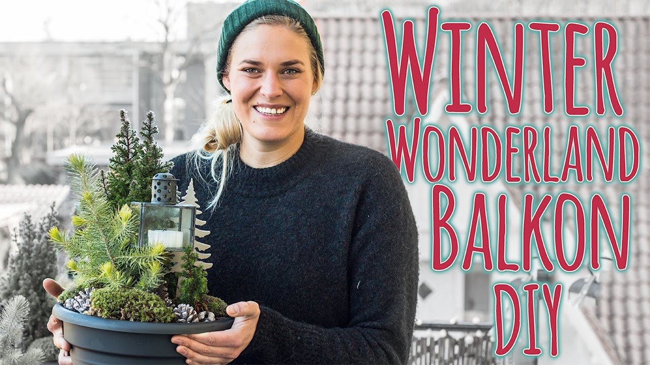 Balkon Aufpimpen Diy Winter Wonderland Youtube