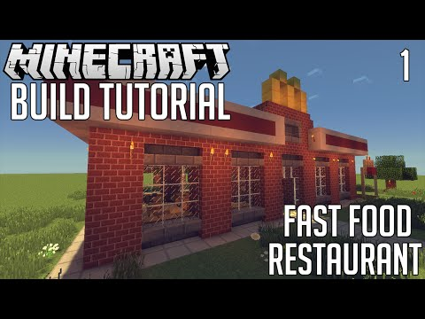 Minecraft: How to Make Fast Food Restaurant (Part 1)