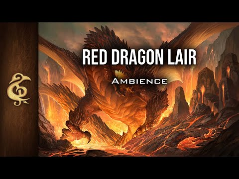 🎧 RPG / D&D Ambience - Red Dragon Lair | Fire, Treasures, Danger